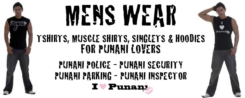 MENS WEAR - TShirts for Punani Lovers - Punani Police Punani Security Punani Inspector Punani Parking I Love Punani